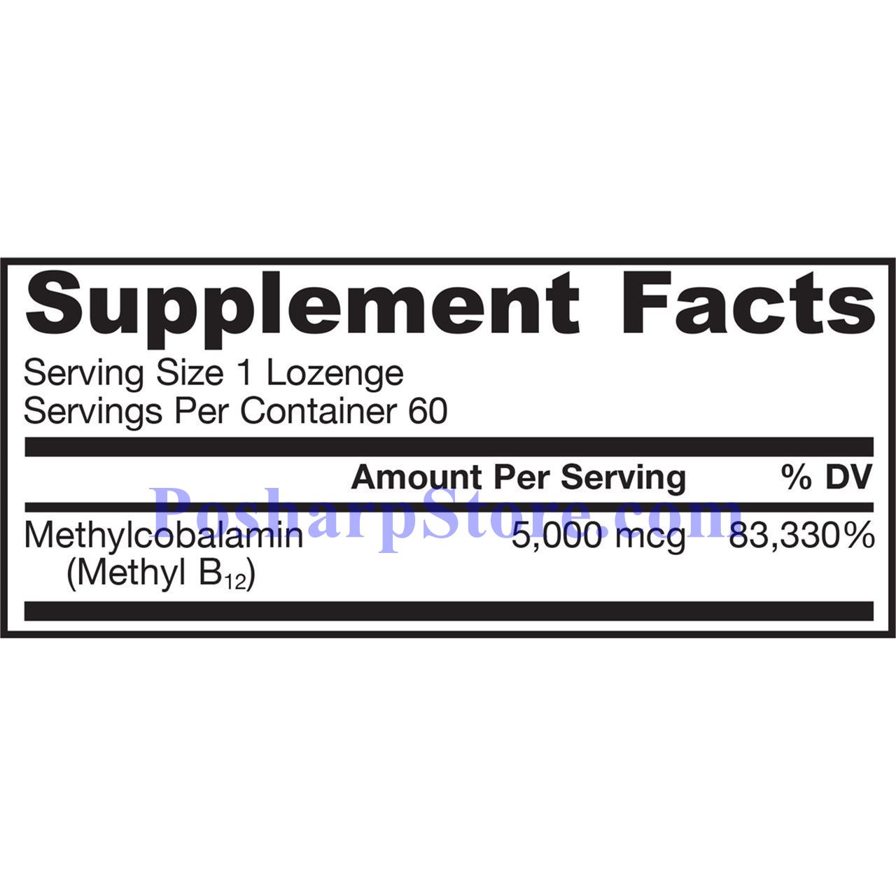 Picture for category Jarrow Formulas Methyl B-12  5000mg 60 Lozenges