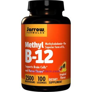 Picture of Jarrow Formulas Methyl B-12  2500mg 100 Lozenges