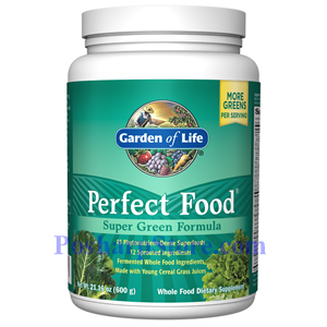 Picture of Garden of Life Perfect Food Super Green Formula Powder  21 oz