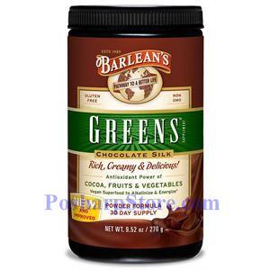 Picture of Barlean's Greens Powder Chocolate Silk Flavor 9.5 oz