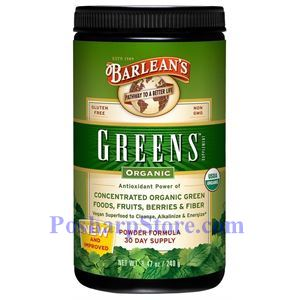 Picture of Barlean's Greens Powder Organic 8.5 oz