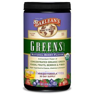 Picture of Barlean's Greens Powder Organic Berry Flavor 8.8 oz