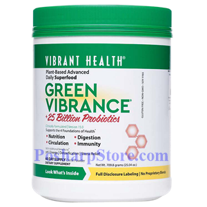 Picture of Vibrant Health Green Vibrance Powder 25 oz  60 Day Supply