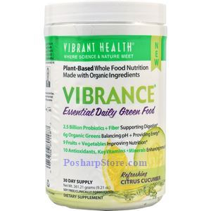Picture of Vibrant Health Vibrance® Essential Daily Green Food Citrus Cucumber 9.2 Oz 30 Day Supply
