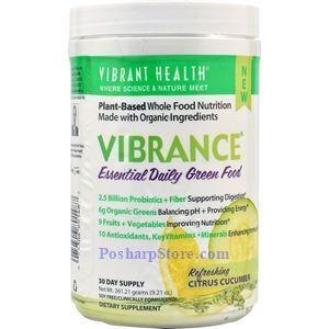 图片 Vibrant Health牌Vibrance系列每日关键天然绿色营养饮料粉 (橙子黄瓜味) 260克  三十天量