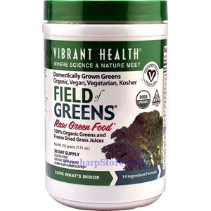 Picture of Vibrant Health Field Of Greens Raw Green Food 7.5 Oz 30 Day Supply
