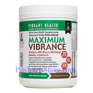 Picture of Vibrant Health Maximum Vibrance Chocolate 28 Oz 15-30 Day Supply