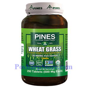 Picture of Pines Wheatgrass Wheat Grass 500 mg 250 Tablets