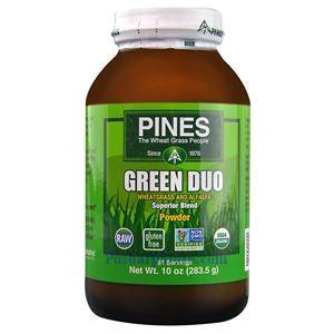 图片 Pines Wheatgrass牌绿色小麦苗和苜蓿牙精华粉 283克