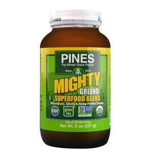 Picture of Pines Wheatgrass Mighty Greens Superfood Blend Powder 8 Oz