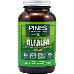 图片 Pines Wheatgrass牌苜蓿苗精华片 500毫克 500粒