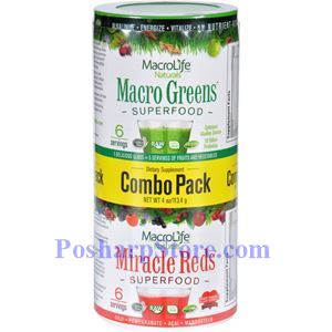 图片 Macrolife Naturals牌超级绿色和特别红色食物精华粉套装  114克