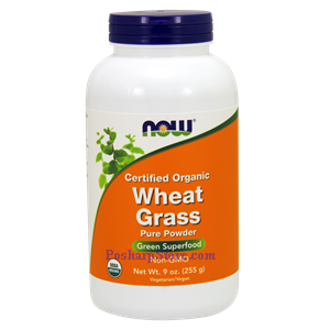 Picture of Now Foods Certified Organic Wheat Grass Pure Powder 9 Oz