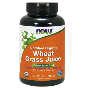 Picture of Now Foods Certified Organic Wheat Grass Juice Powder 4 Oz