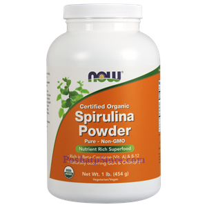 Picture of Now Foods Certified Organic Spirulina Powder 1 Lb 138 Servings