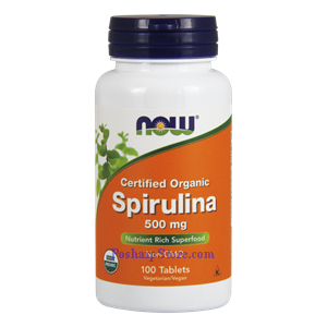 Picture of Now Foods Certified Organic Spirulina Powder 500 mg 100 Tablets
