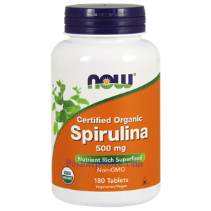 Picture of Now Foods Certified Organic Spirulina Powder 500 mg 180 Tablets
