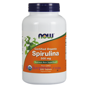 Picture of Now Foods Certified Organic Spirulina Powder 500 mg 500 Tablets
