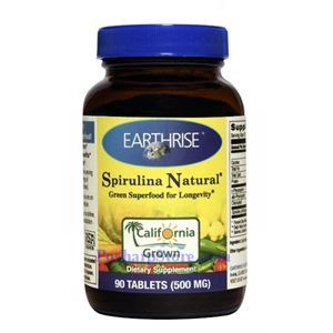 Picture of Earthrise Spirulina Natural® 500mg 90 Tablets 15 Servings