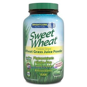 Picture of BrightCore Nutrition Sweet Wheat Grass Juice Powder 180 Vegan Capsules