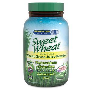 Picture of BrightCore Nutrition Sweet Wheat Grass Juice Powder 60 Vegan Capsules