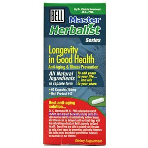 Picture of Bell Lifestyle Longevity in Good Health (#47)  660mg 90 Capsules