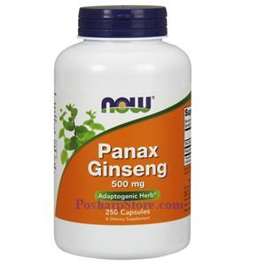 Picture of Now Foods Panax Ginseng 500 mg 250 Capsules