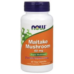 Picture of Now Foods Maitake Mushroom 60 mg 60 Veg Calpsules