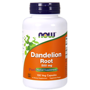 Picture of Now Foods Dandelion Root 500 mg 100 Capsules