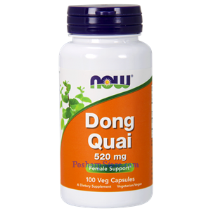 Picture of Now Foods Dong Quai 520 mg 100 Capsules