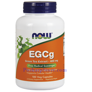 Picture of Now Foods EGCg Green Tea Extract 400 mg 180 Veg Capsules