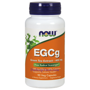 Picture of Now Foods EGCg Green Tea Extract 400 mg 90 Veg Capsules
