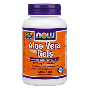 Picture of Now Foods Aloe Vera 5000 mg 100 Softgels
