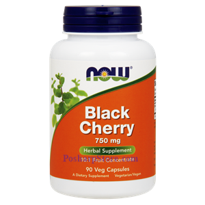 Picture of Now Foods Black Cherry 750 mg 90 Veg Capsules