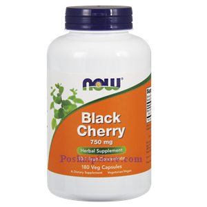 Picture of Now Foods Black Cherry 750 mg 180 Veg Capsules