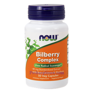 Picture of Now Foods Bilberry Complex 80 mg 50 Veg Capsules