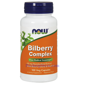 Picture of Now Foods Bilberry Complex 80 mg 100 Veg Capsules