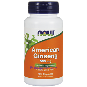 Picture of Now Foods American Ginseng 500 mg 100 Capsules