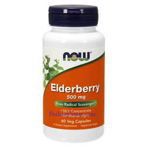 Picture of Now Foods Elderberry 500 mg 60 Veg Capsules