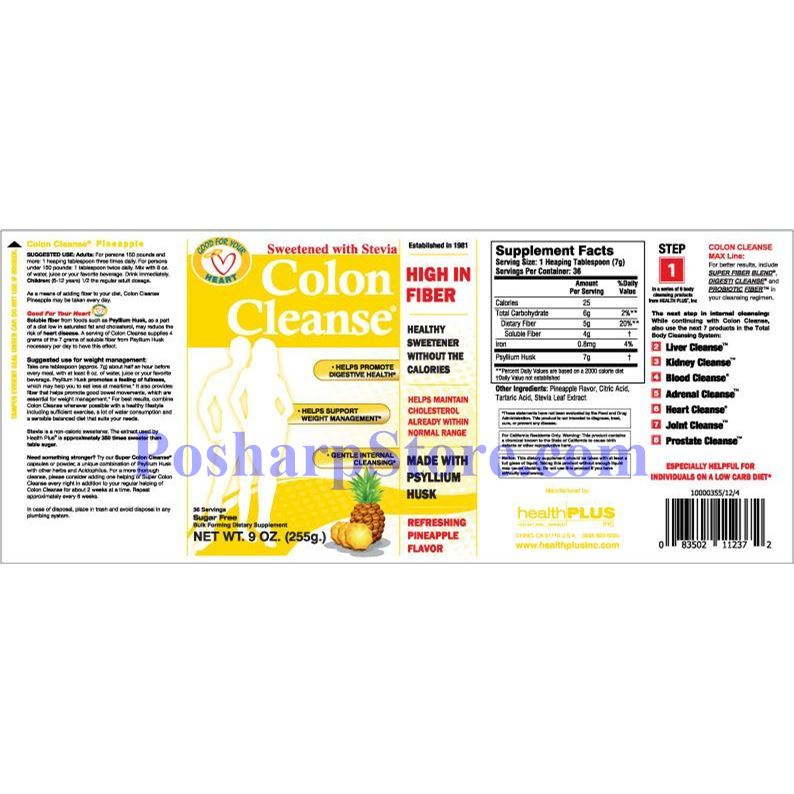 Picture for category Health Plus Stevia-Sweetened Colon Cleanse with Pineapple Flavor 9 oz