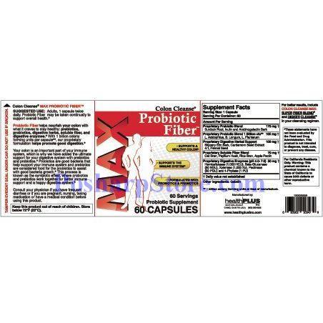分类图片 Health Plus牌强力型益生菌膳食纤维胶囊  60粒