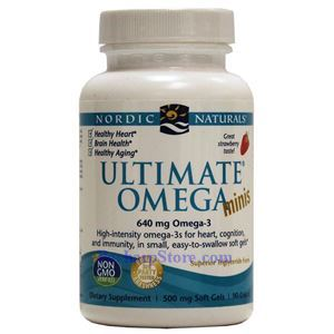 Picture of Nordic Naturals Ultimate Omega® Minis Strawberry Flavor 1120mg 90 Softgels