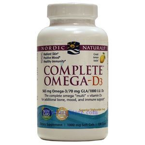 Picture of Nordic Naturals Complete Omega-3D Lemon Flavor 560mg/1000IU 120 Softgels