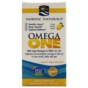 图片 Nordic Naturals挪帝克牌一日一粒型欧米伽(Omega)鱼油软胶囊 30粒