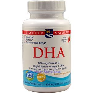 Picture of Nordic Naturals DHA Strawberry Flavor 90 Softgels