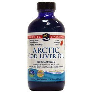 Picture of Nordic Naturals Arctic Cod Liver Oil Strawberry Flavor 8 Fl Oz