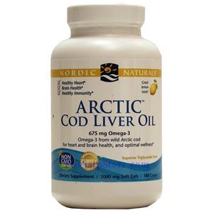 Picture of Nordic Naturals Arctic Cod Liver Oil Lemon Flavor 180 Softgels