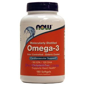 Picture of Now Foods Omega-3 180 Softgels