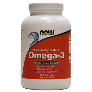 Picture of Now Foods Omega-3 500 Softgels