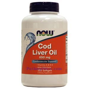 Picture of Now Foods Cod Liver Oil 250 Softgels